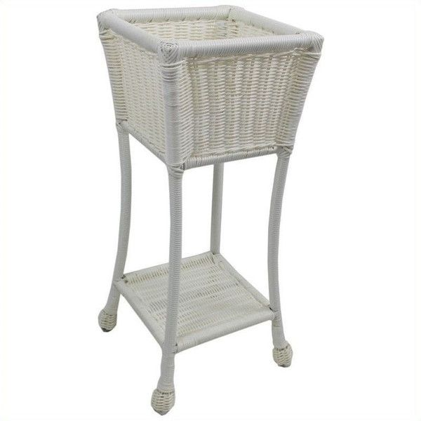 International Caravan Chelsea 2 Tier Outdoor Plant Stand ($127) ❤ liked on Polyvore featuring home, outdoors, outdoor decor, outdoor flower pots, outdoor patio decor, outside flower pots, white plant pots and 2 tier plant stand