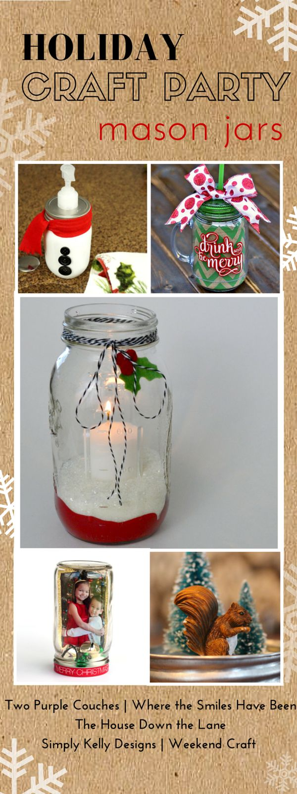'Drink and Be Merry' Christmas Mason Jar