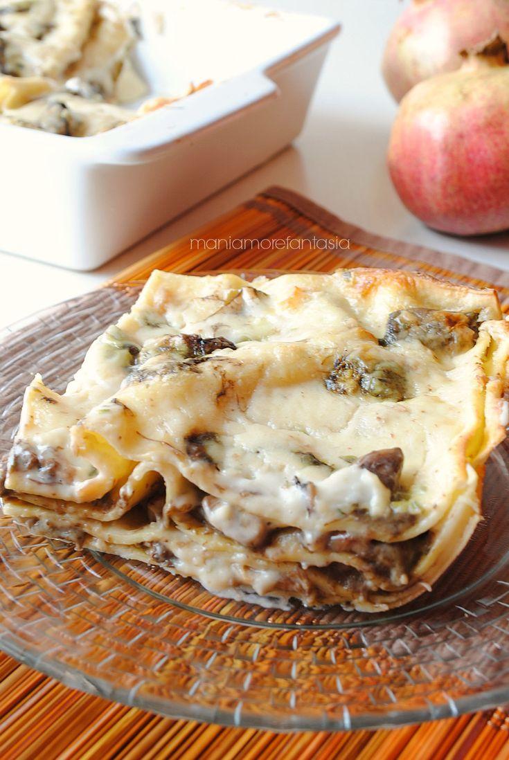 pasticcio di lasagne ai funghi porcini