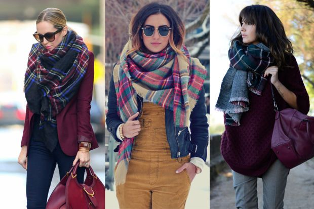 how to wear blanket scarf