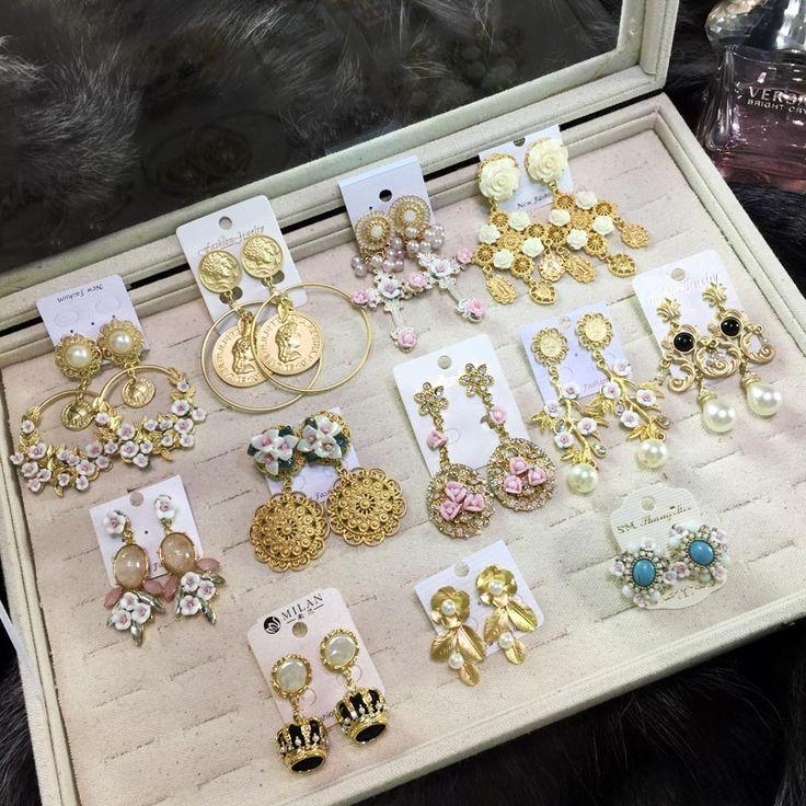 Европейские и американские ретро моды золотые ювелирные изделия ручной работы в стиле барокко серьги корейских женских моделей преувеличенными личности ночного клуба серьги - глобальной станции Taobao