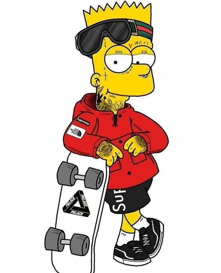 Барт симпсон крутые картинки