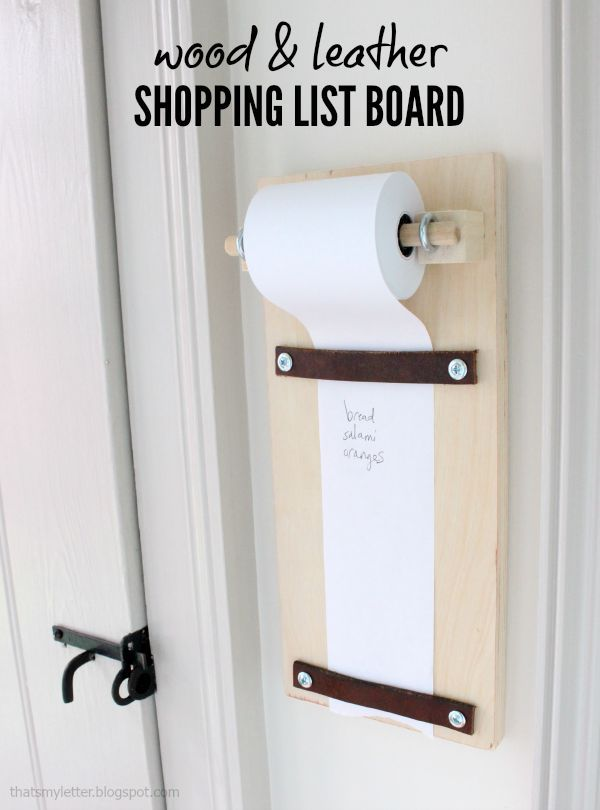 That's My Letter: diy Wood & Leather Shopping List Board