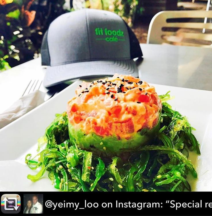 """Repost from @yeimy_loo on Instagram: """"Special request at my favorite place #tuna #sushi #tower super #delish a little bit of #brownrice #tuna #sushi #tower super #delish a little bit of #brownrice #seaweed #fresh #avocado lite #spicy mayo #yummy #fitfoodzcafe #healthyeating #glutenfree"""