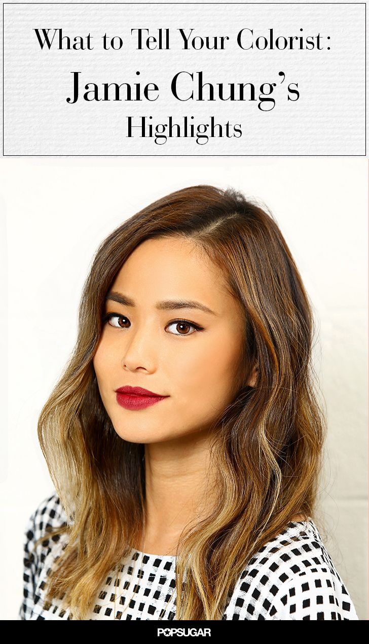 What to Tell Your Colorist: Jamie Chung's Soft Highlights
