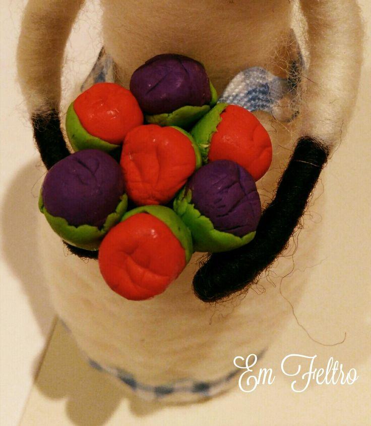 Details. Flowers material: plasticine.