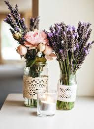 Image result for lavender invitation mason jar