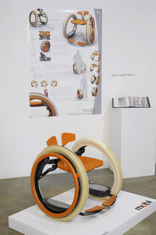 Mobi Electric Folding Wheelchair by Jack Martinich. Monash Uni, Caulfield. Posted to Tuvie | http://www.tuvie.com