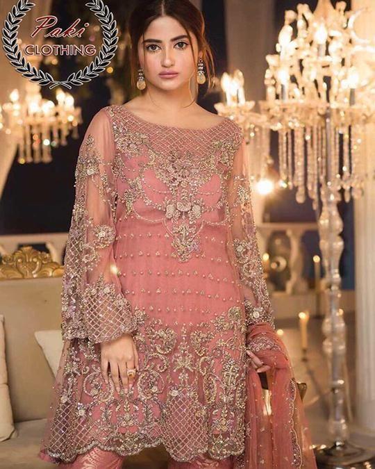 54bc4626ed Maria B Couture Chiffon Replica (Replica)(Unstitched) | Pakistani ...
