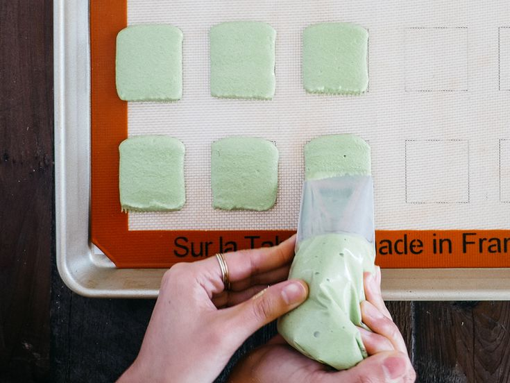 Matcha + Jasmine Macaron Ice Cream Sandwiches — Fix Feast Flair