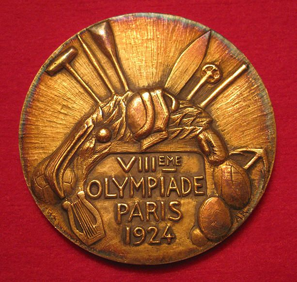 1924 Summer Olympics Gold Medal, Paris France (VIII Olympiade).