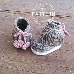 PATRON Botines Dakota de crochet. Descarga inmediata.