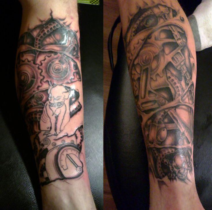 Mechanical Arm Tattoo Sleeve Mechanical
