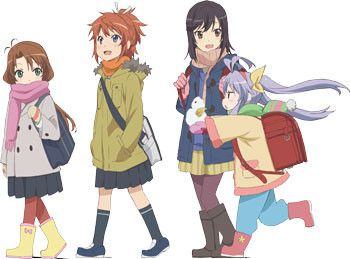 Non Non Biyori -  Elementary school student Hotaru Ichijou has moved with her parents from Tokyo to the middle of the country. Now she must adapt to her new school, where there are a total of 5 students in the same class who range through elementary and middle school ages. Join their everyday adventures in the countryside.  http://kissanime.com/Anime/Non-Non-Biyori