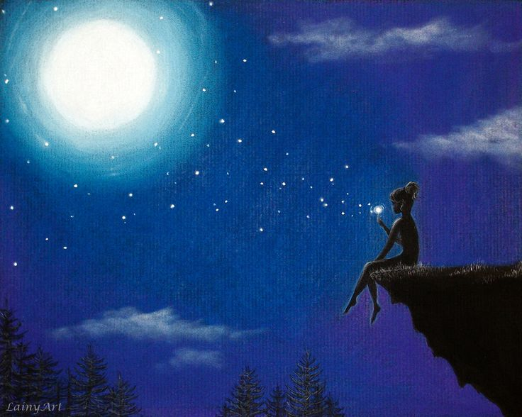 moon and star art - Google Search