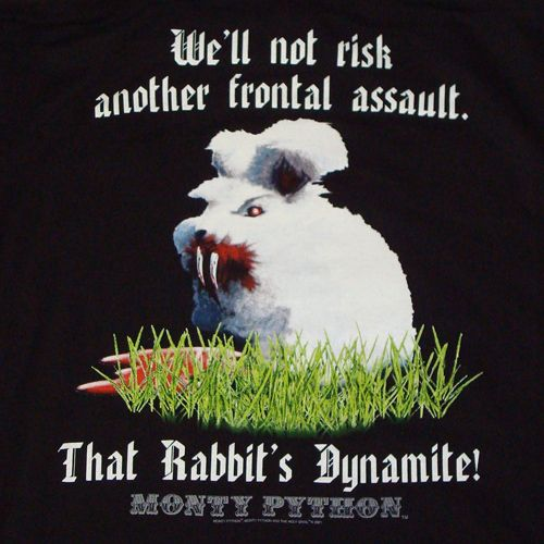 """That rabbit's dynamite!"""
