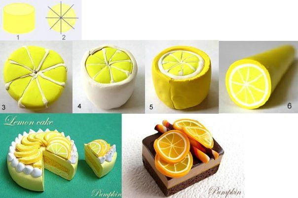 Lemon Slices Tutorial for Fimo or Polymer Clay