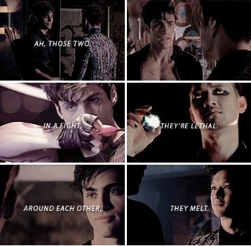 Around each other  they melt     alexander   39 alec  39  lightwood  magnus bane  the mortal instruments