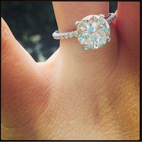 solitaire with a skinny band...... my dream engagement ring. 2 karat white gold- cute but need more karats