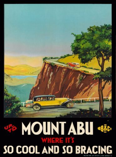 Mount-Abu-India-Southeast-Asia-Vintage-Travel-Advertisement-Art-Poster-Print