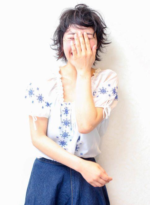 キュートショート <髪型ショート黒髪 参照一覧>