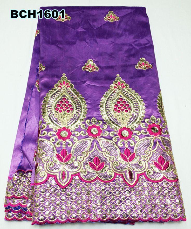 Новое поступление Африканская джордж кружевной ткани с хорошими золотыми блестками для платья, новое прибытие Французский кружевной ткани онлайн BCH1601
