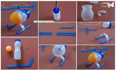 Kumpulan Tips Pendidikan Kreatif Dari Pendidik / Guru Untuk Anak Usia Dini: Helikoter Berbahan Bola Pingpong, Sedotan, dan Botol (Pembelajaran PAUD dan Taman Kanak Tema Alat Transportasi)