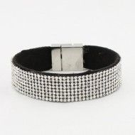 Bracelet Leather Strass