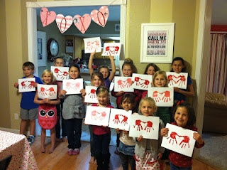 Valentines theme - kids craft class.