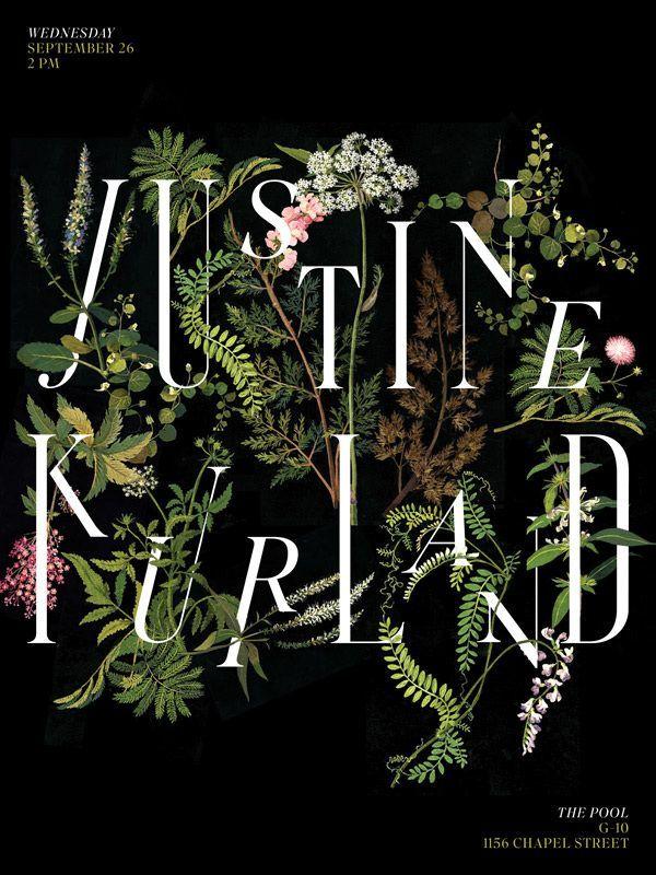 Quotes Typo  Botanical design. Justine Kurland poster by Jessica Svendsen