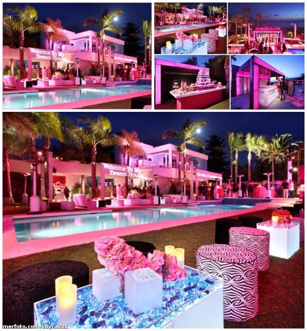 Jonathan Adler Real-Size Barbie House - Exterior (Night)