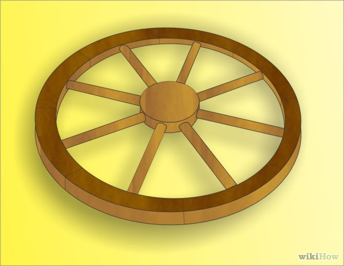 diy wooden wagon wheels 1