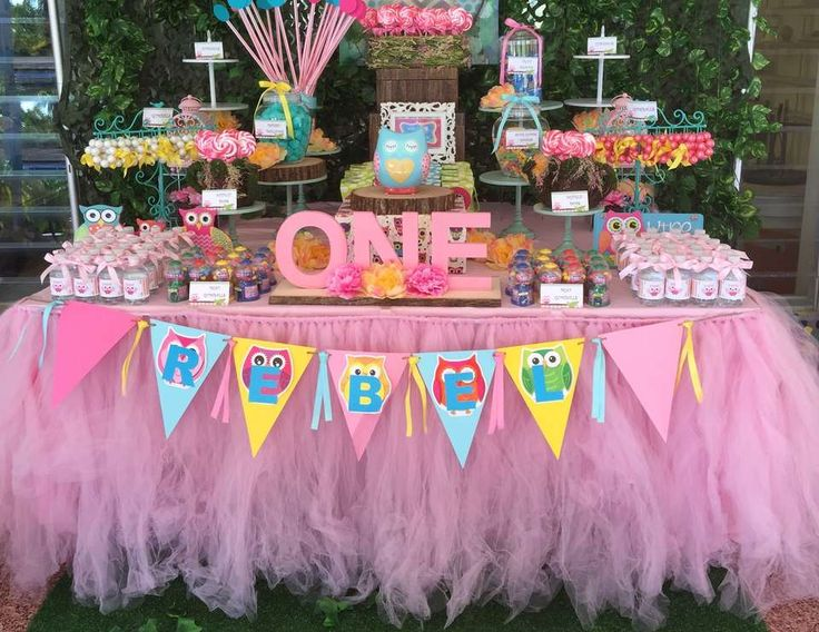 """Owls / Birthday """"Look Whoo's Turning One"""" 