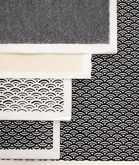 Papiers graphiques en noir et blanc Adeline Klam