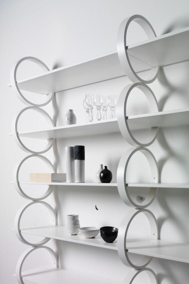 Monica Förster Design Studio, FLYING RINGS Shelwing system, Gärsnäs, 2011