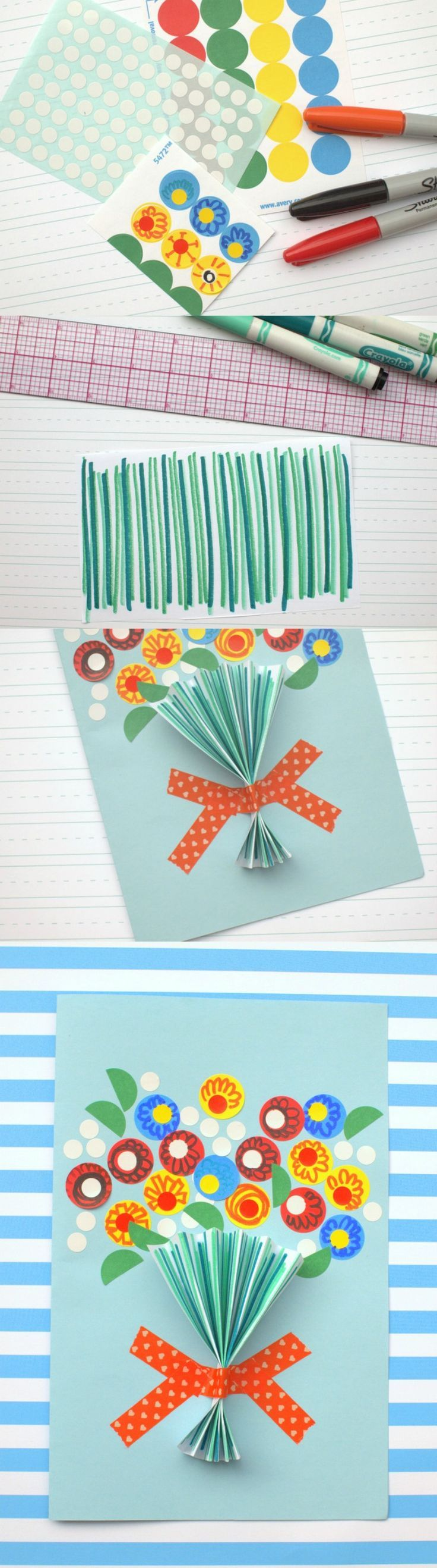Are you looking for a handmade Mother's Day card idea that both littles and adults will have fun making? This is that card - so simple and darling!