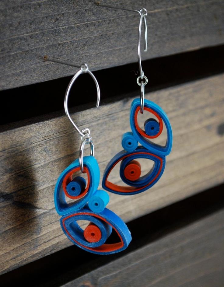 Modern Paper Earrings / Lightweight Earrings / Paper Jewelry / Eco Friendly Jewelry / Sterling Silver Earwire - Mariposa. $28.00, via Etsy.