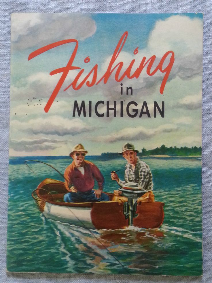 Vintage fishing in michigan booklet pamphlet michigan for Michigan fishing license online