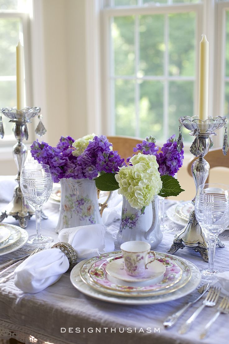 Great How To Set A Beautiful Table With Vintage China