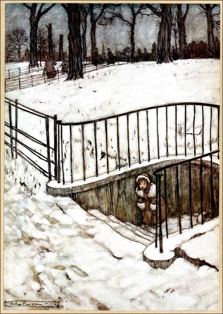 Art by Arthur Rackham (1906) from PETER PAN IN KENSINGTON GARDENS.