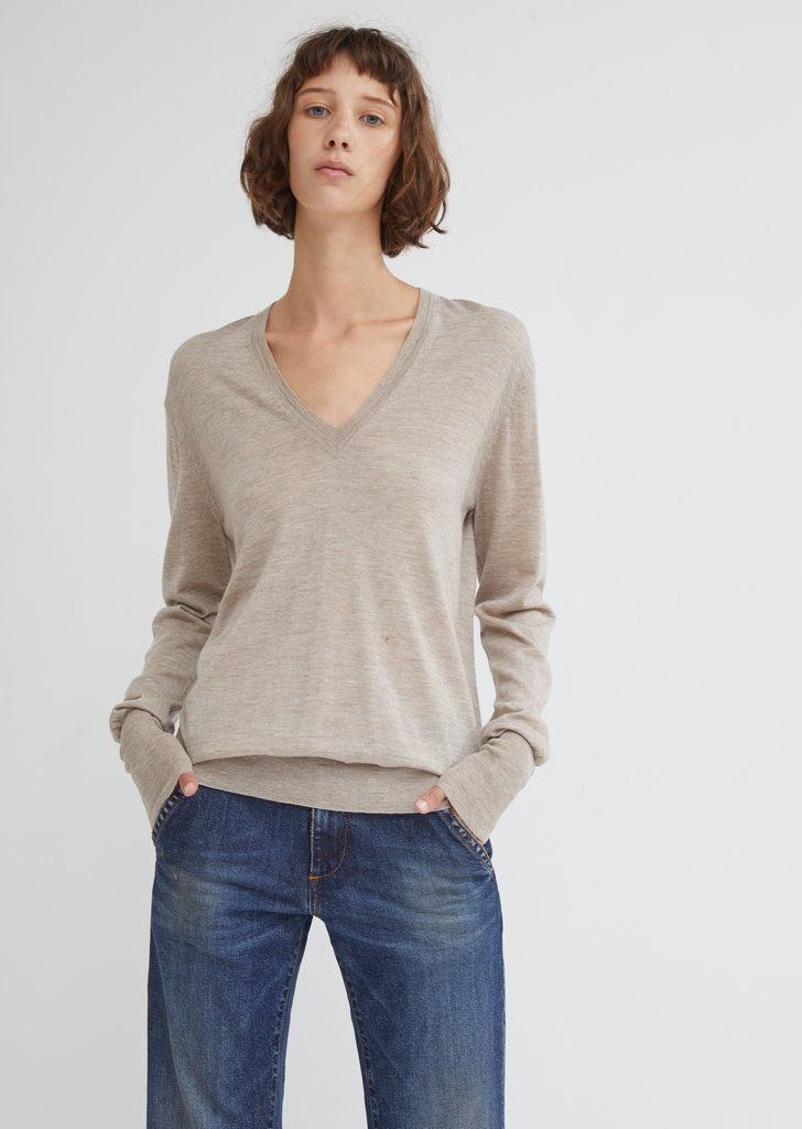 89a1c7db1f8 Merino Perfect V-Neck Girls Sweaters