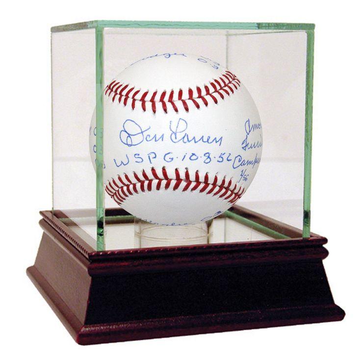 """Steiner Don Larsen Signed MLB Baseball w/ """"wspg 10-8-56 & Box Score"""" Insc. LE/56"""