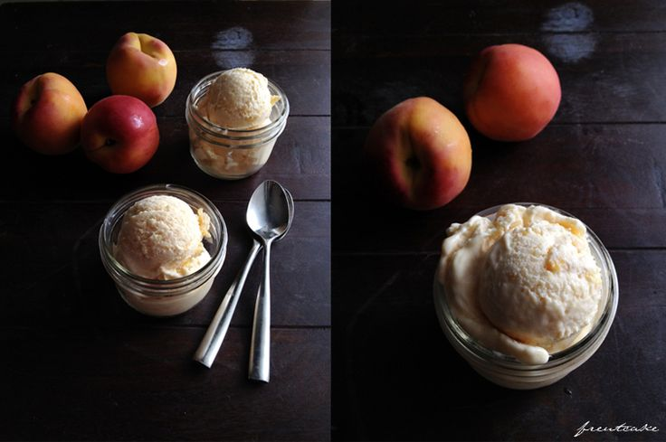 Last week on Instagram I asked, you answered, and now I stand here on a cool and overcast June day snapping shots of a freshly made batch of homemade peach ice cream. Between the rosy peaches, the moody lighting and the creamy scoops all nestled in their little mason jars, I felt like I was …