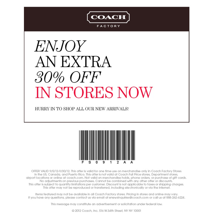 I am hoping I can make it to my Coach store before this expires!