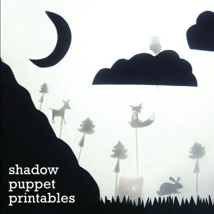 shadow puppet printables. great activity for children when its too cold to play outside