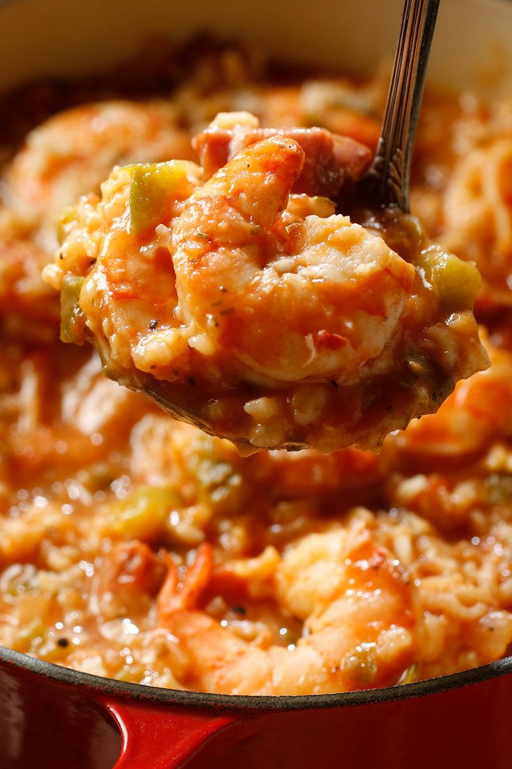NYT Cooking: The chef Paul Prudhomme's unassailably authentic seafood jambalaya requires two hours of cooking time, apart from the preparation. This version stands up reasonably well, and cuts down the preparation and cooking time to just under 60 minutes.