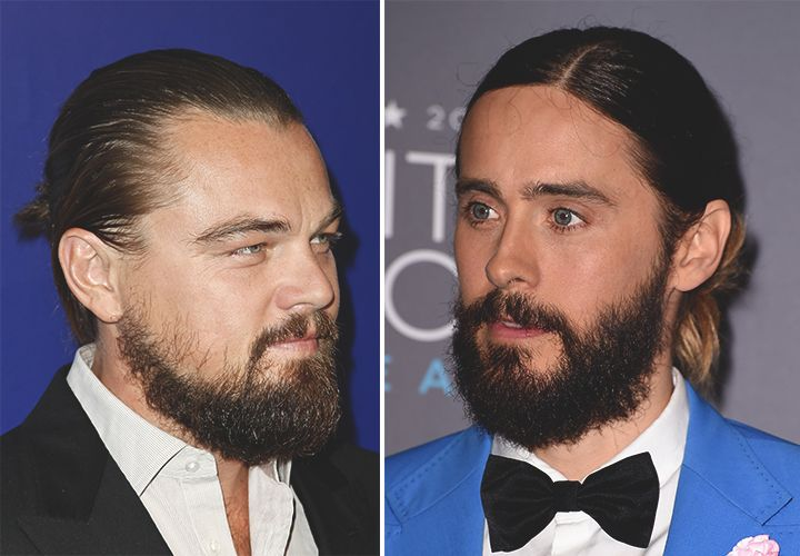 Leonardo Dicaprio and Jared Leto sporting the #manbun.