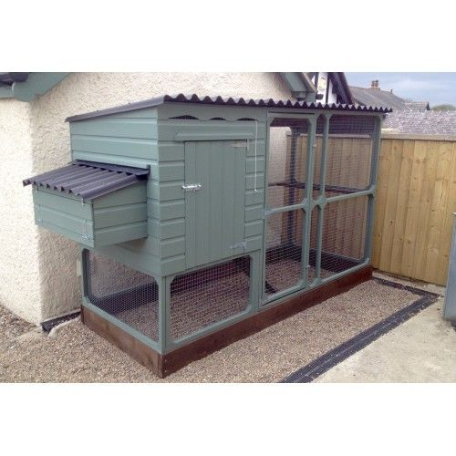 Chicken House with Chicken Run that is suitable for gardens to allotments  to orchards, an easy clean fox proof House with weatherproof Walk In Run that looks great in any environment. Suitable for all Chickens and BantamsFabulous woodenart quality and innovationA very easy to clean Chicken Hou