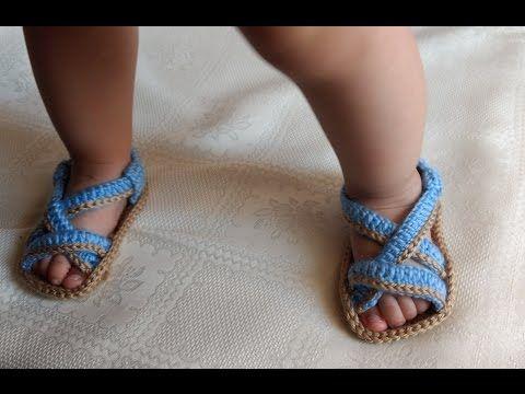 Sandalias Huaraches tejidos a Crochet con trenza | parte 1/2 - YouTube