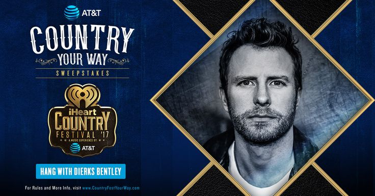 Ends 4/23 - Win 4 VIP Tickets to our iHeartCountry Festival & Meet Dierks Bentley